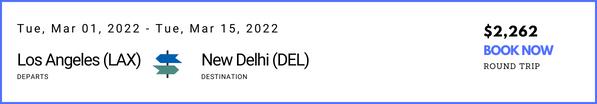 Los Angeles to New Delhi